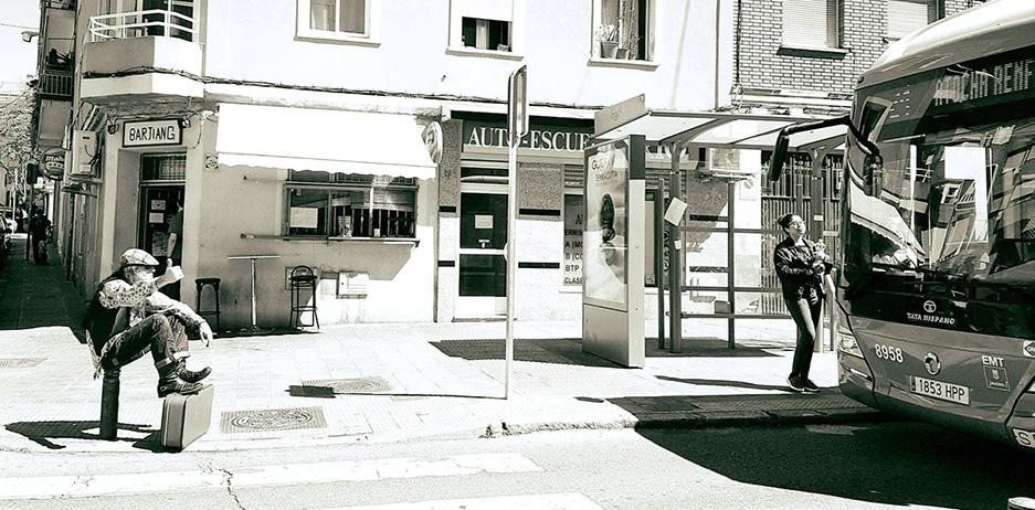 <p>Autostop a Atocha, Vallekas, Madrid</p>